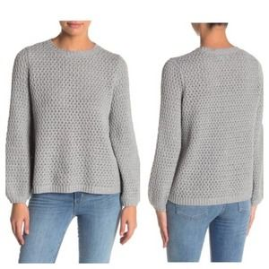 NWT 14th & Union Gray Balloon Sleeve Sweater Large